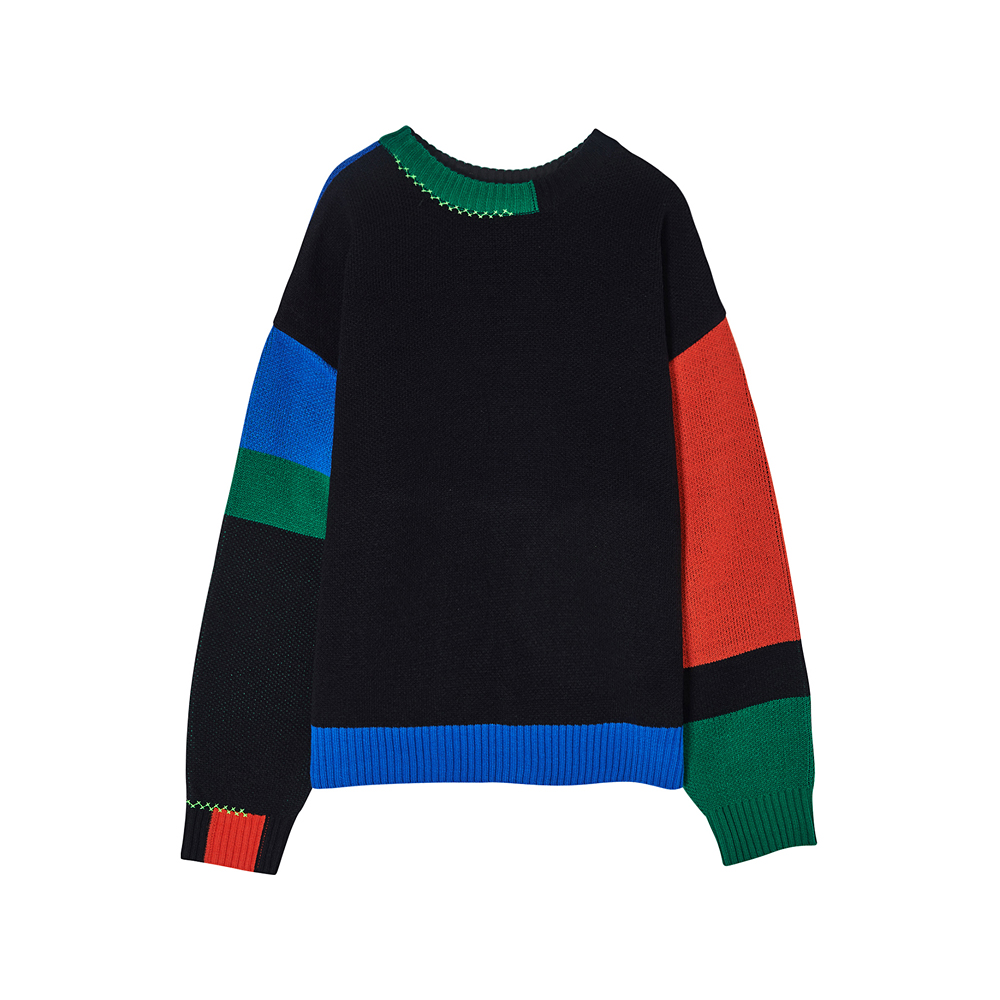 [SS17 Colour] Color Block Knit(Black) 스테레오 바이널즈