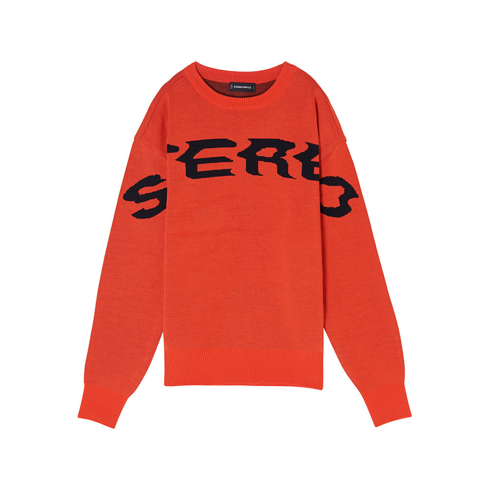 [SS17 Colour] Logo Jacquard Knit(Orange) 스테레오 바이널즈