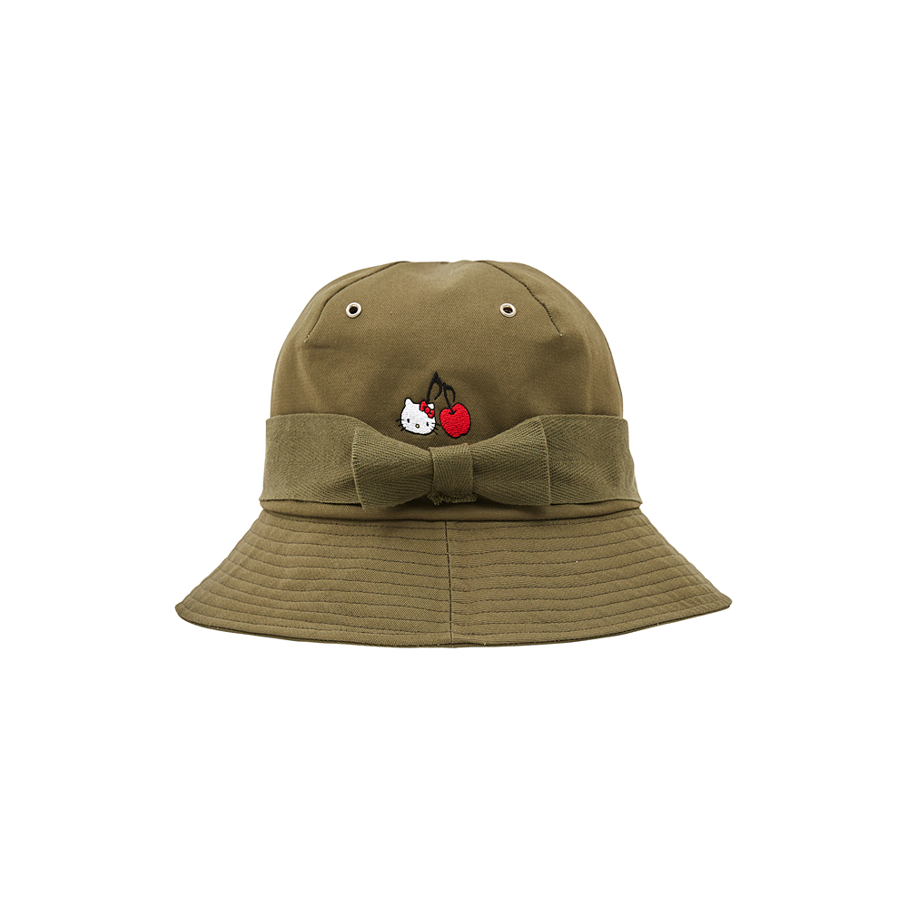 [Hello Kitty] Ribbon Bucket Hat (Khaki) 스테레오 바이널즈