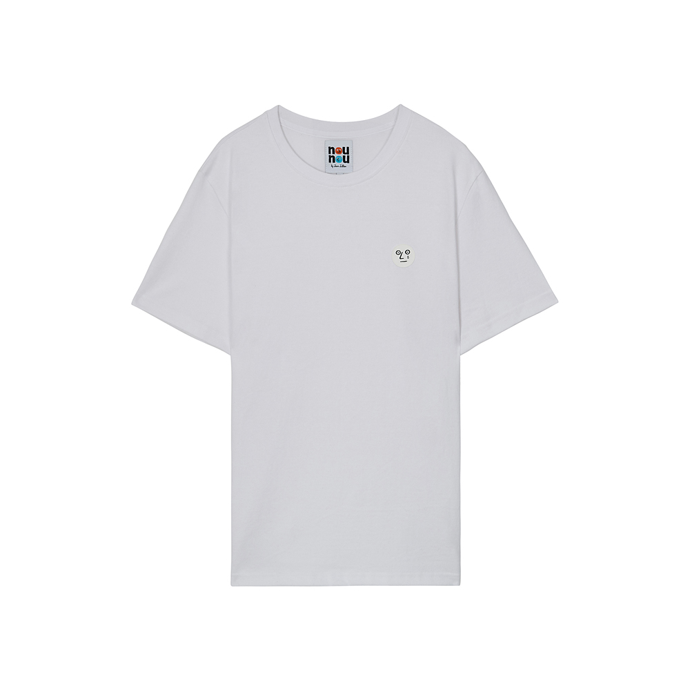 [NOUNOU S1] One Point T-Shirts(White) 스테레오 바이널즈