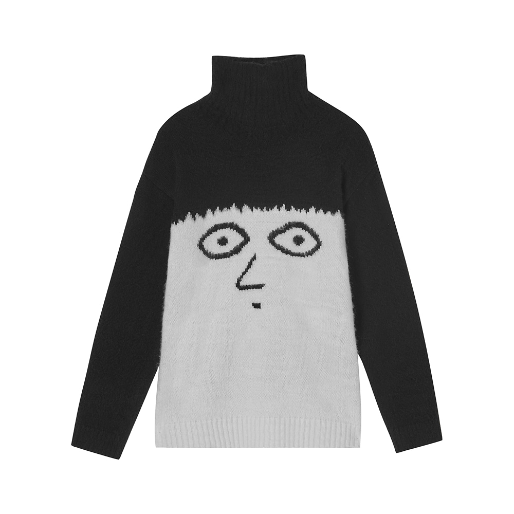 [AW17 NOUNOU] Turtleneck Knit(Black) 스테레오 바이널즈