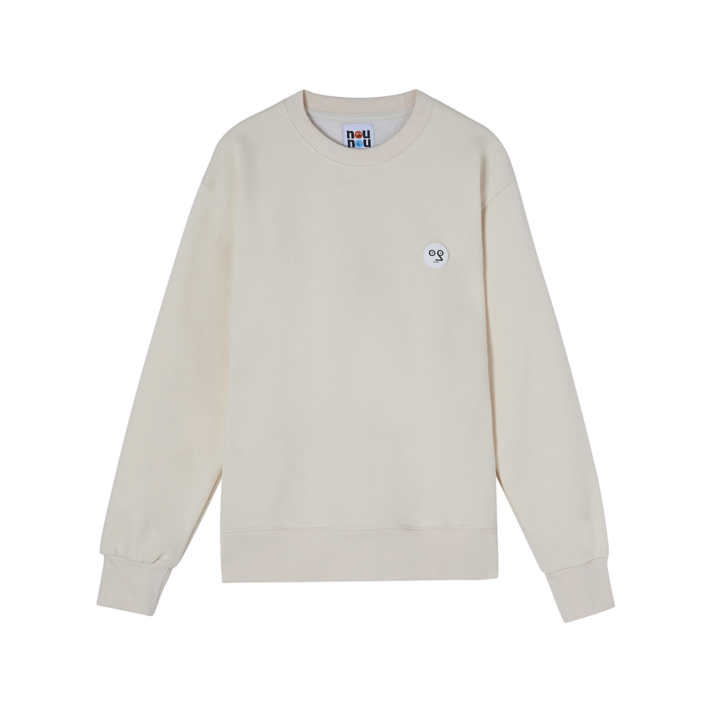 [AW17 NOUNOU] One Point Fleece Sweatshirts(Ivory) 스테레오 바이널즈