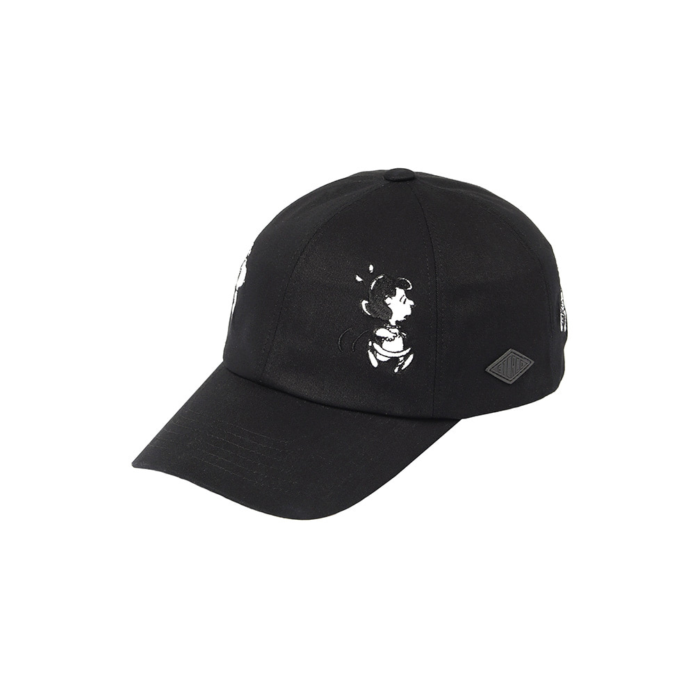 [SS18 Peanuts] Friends Cap(Black) 스테레오 바이널즈