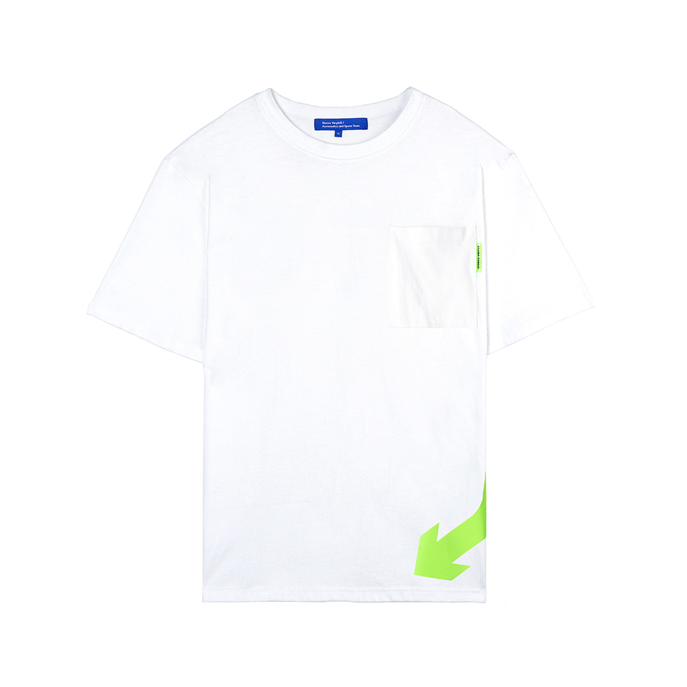 [SS18 ISA] Arrow T-Shirts(White) 스테레오 바이널즈