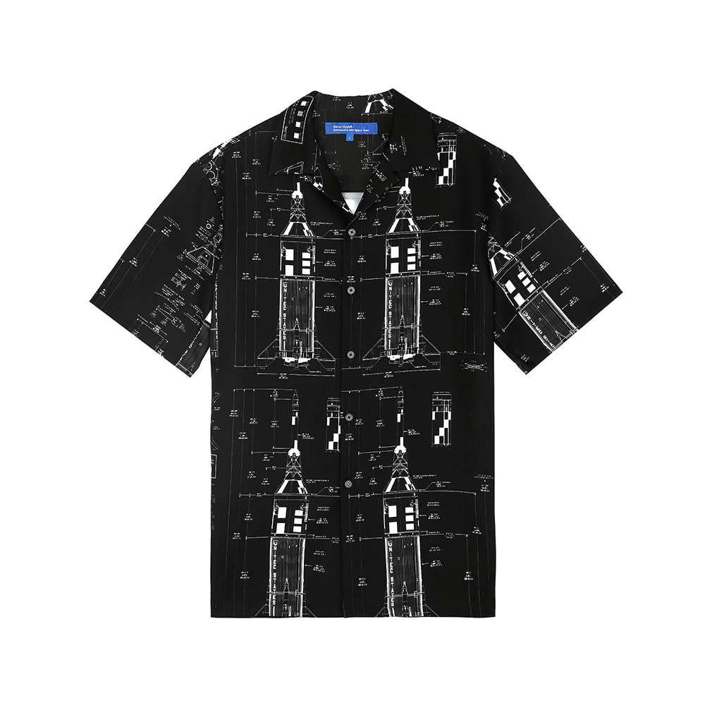 [SS18 ISA] Apollo Diagram Shirts(Black) 스테레오 바이널즈