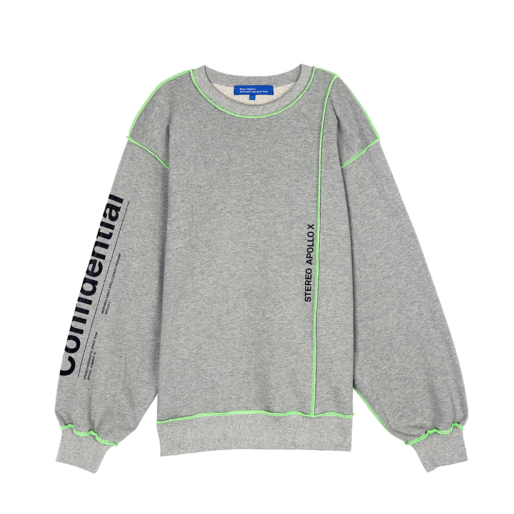 [SS18 ISA] Multi Panel Sweatshirts(Melange Grey) 스테레오 바이널즈