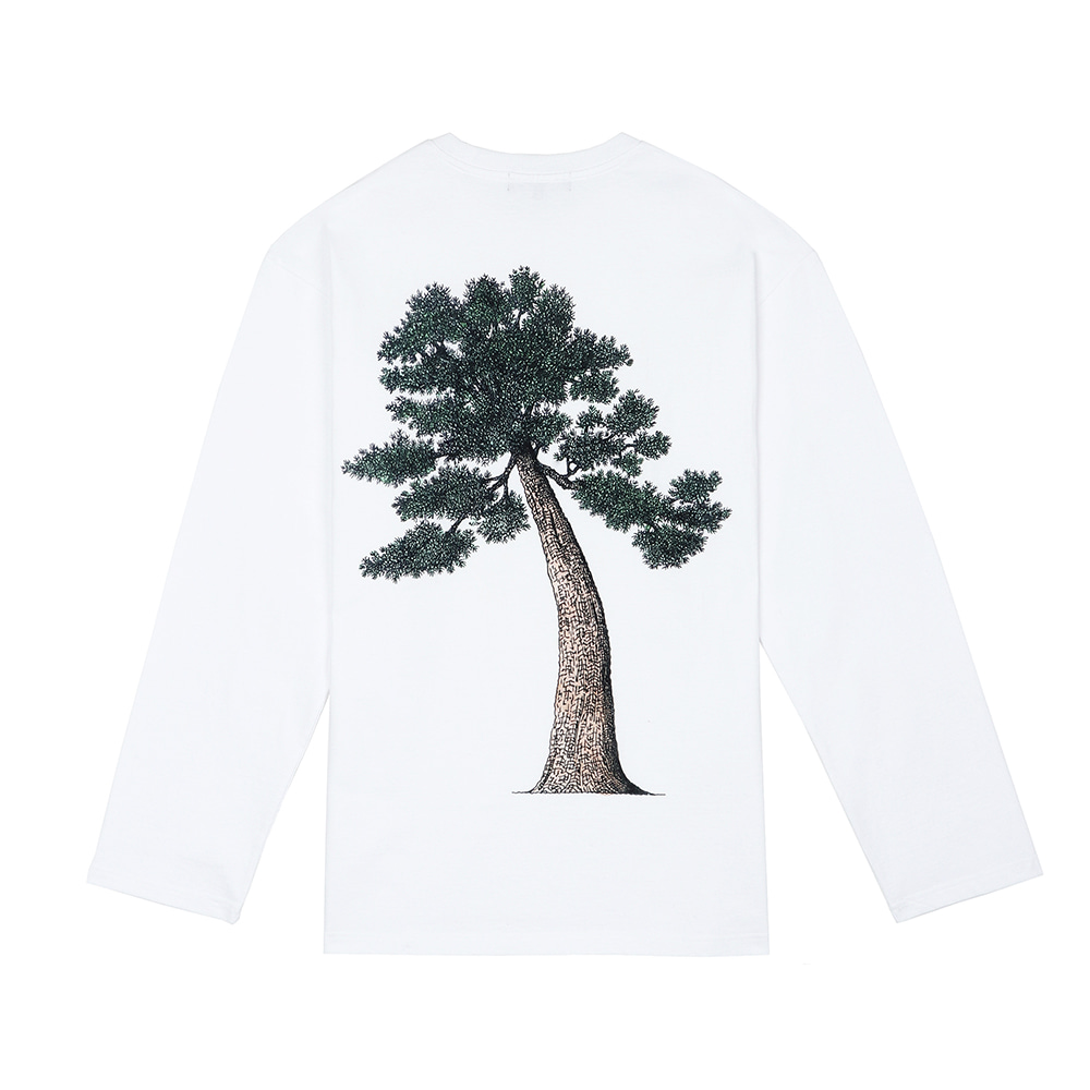 [SS18 Thibaud] Pine Tree Long Sleeve(White) 스테레오 바이널즈