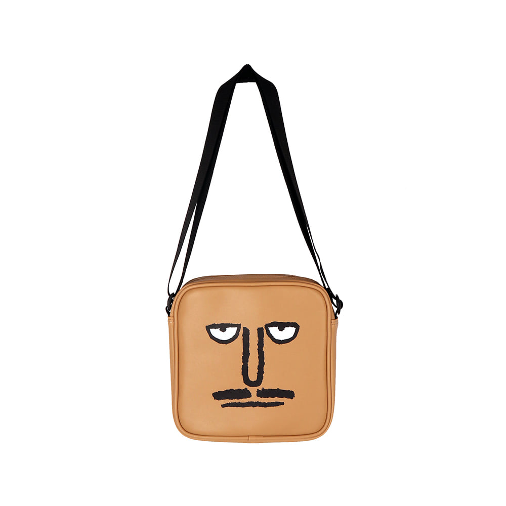 [SS18 NOUNOU] Face Shoulder Bag(Beige) 스테레오 바이널즈