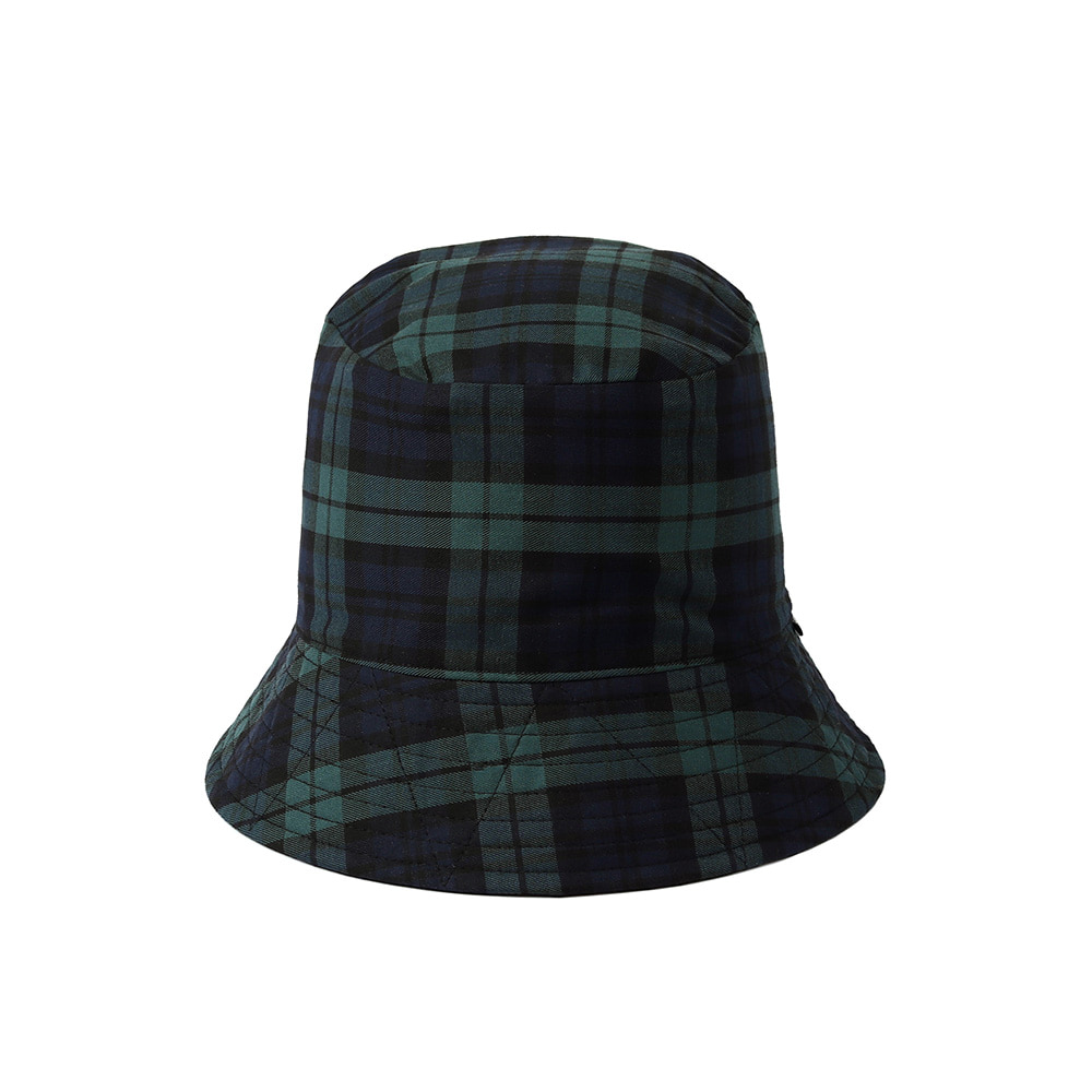 [SM18 Peanuts] Check Reversible Bucket(Black) 스테레오 바이널즈