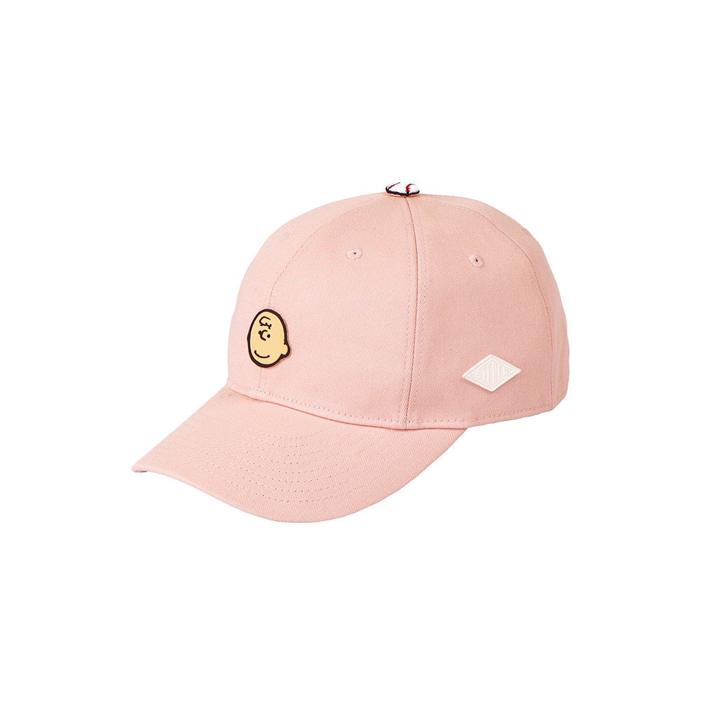 [SM18 Peanuts] Charlie Point Cap(Pink) 스테레오 바이널즈