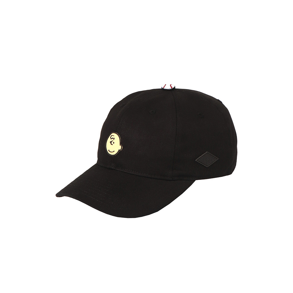 [SM18 Peanuts] Charlie Point Cap(Black) 스테레오 바이널즈