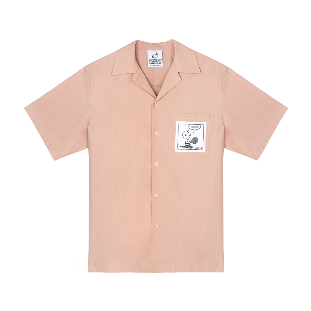 [SM18 Peanuts] Cotton S/S Shirts(Pink) 스테레오 바이널즈