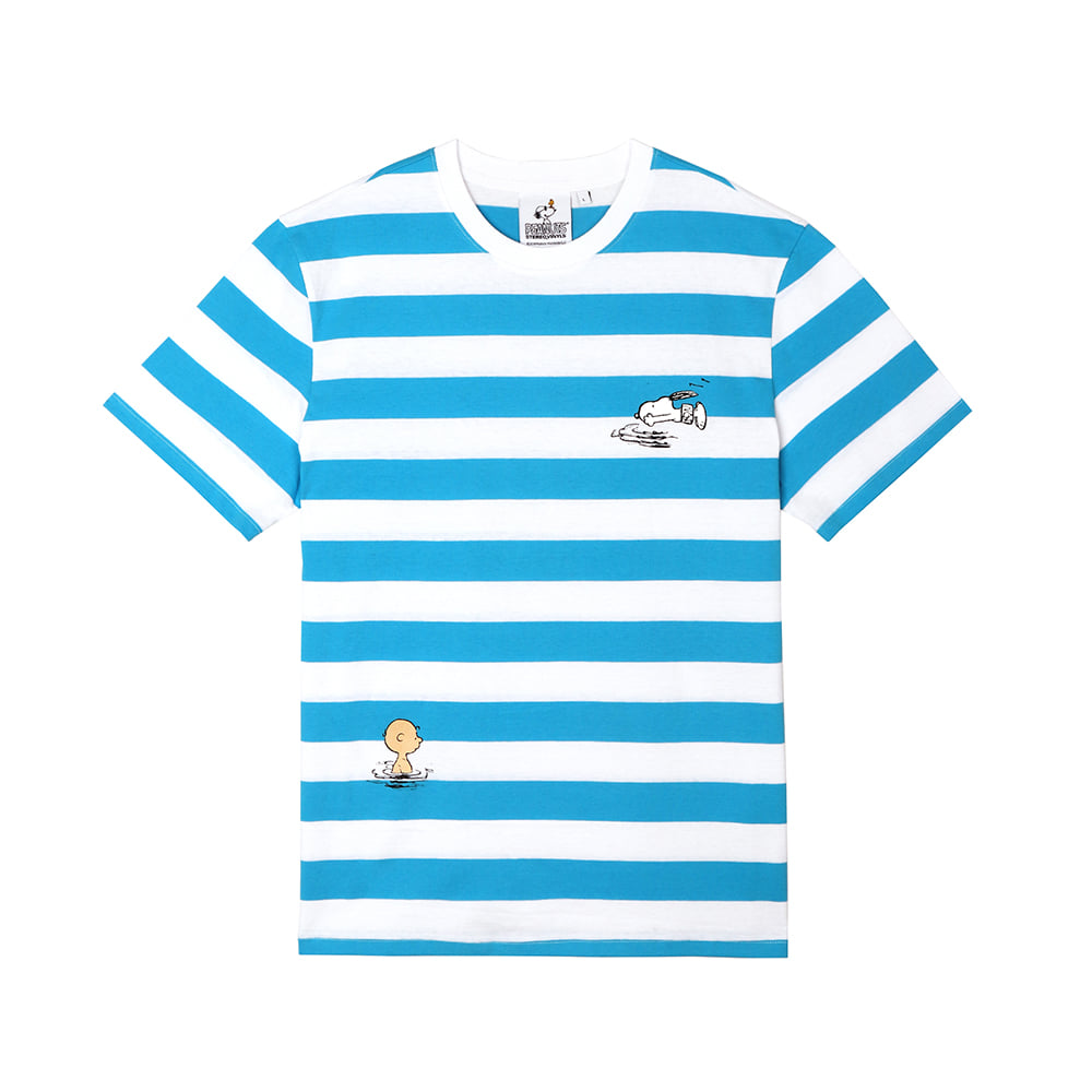 [SM18 Peanuts] Swimming Pool T-Shirts(Blue) 스테레오 바이널즈