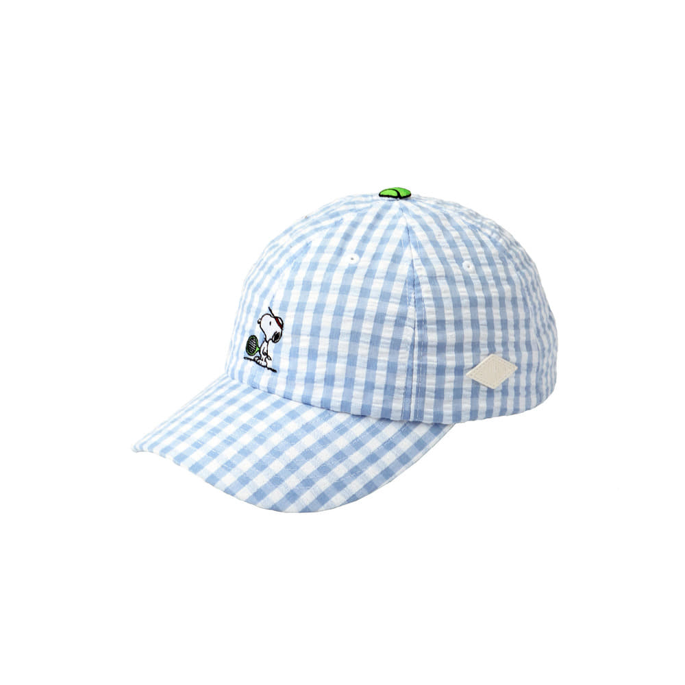 [SM18 Peanuts] Tennis Player Snoopy Cap(Blue) 스테레오 바이널즈