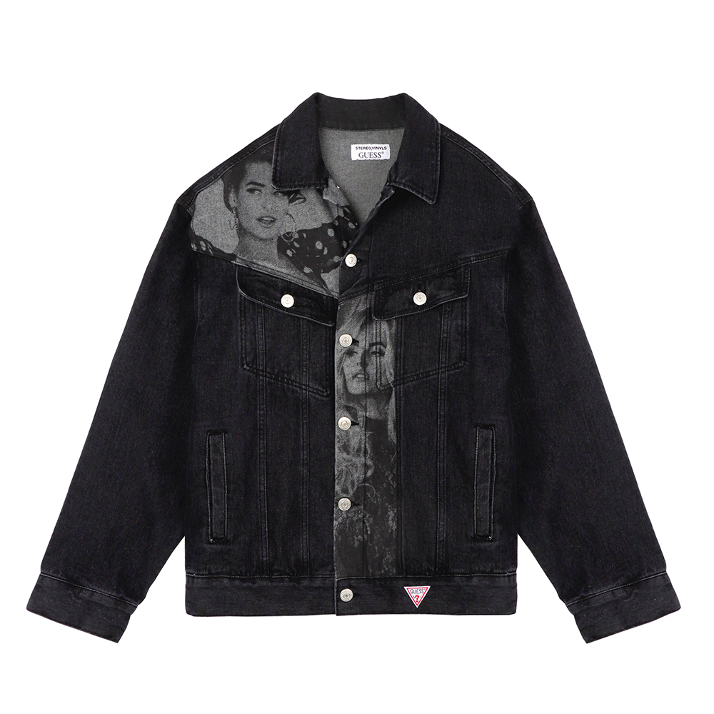 [18FW STEREO X GUESS] Overfit Denim Jacket(Black) 스테레오 바이널즈