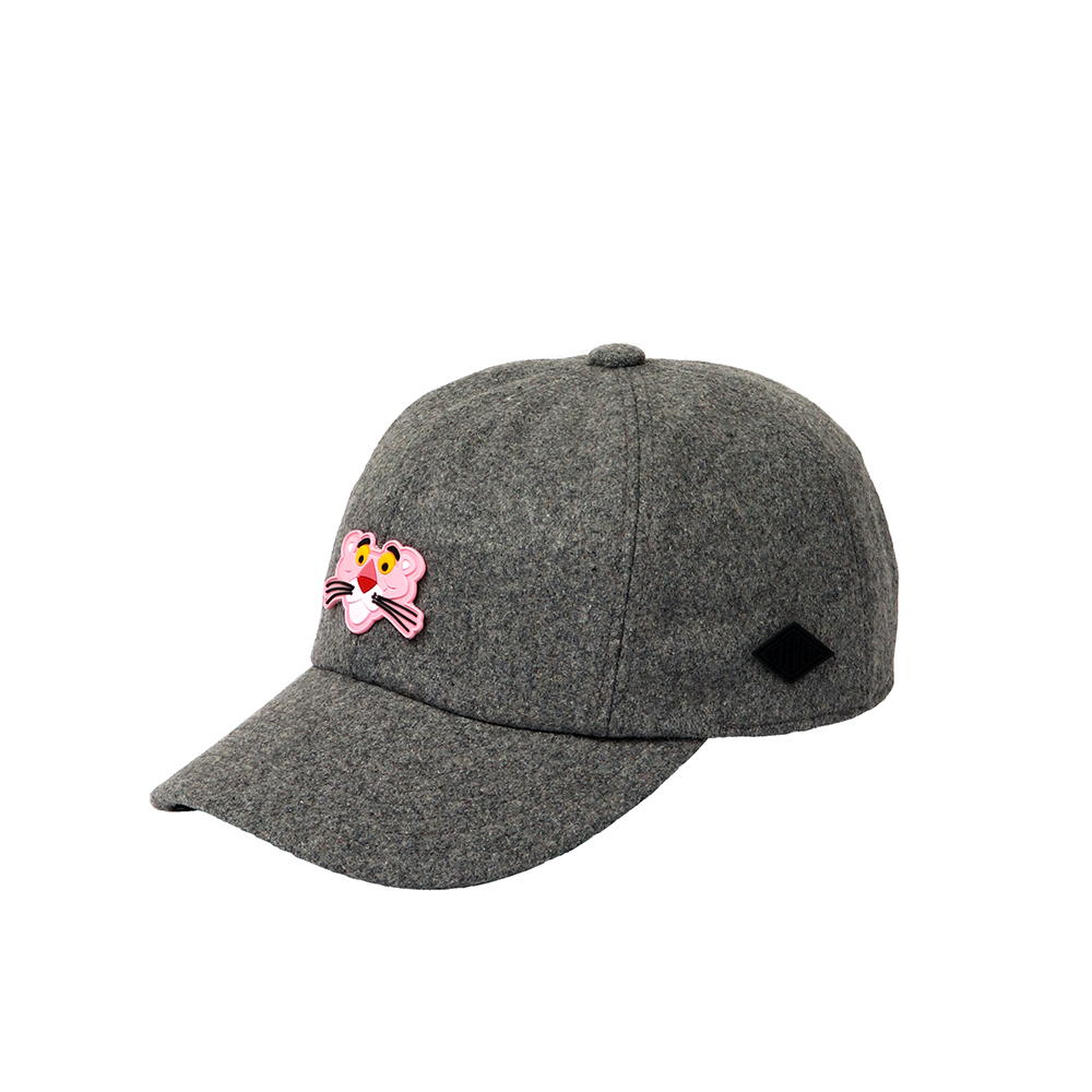 [FW18 Pink Panther] PP Face Wool Cap(Melange Grey) 스테레오 바이널즈