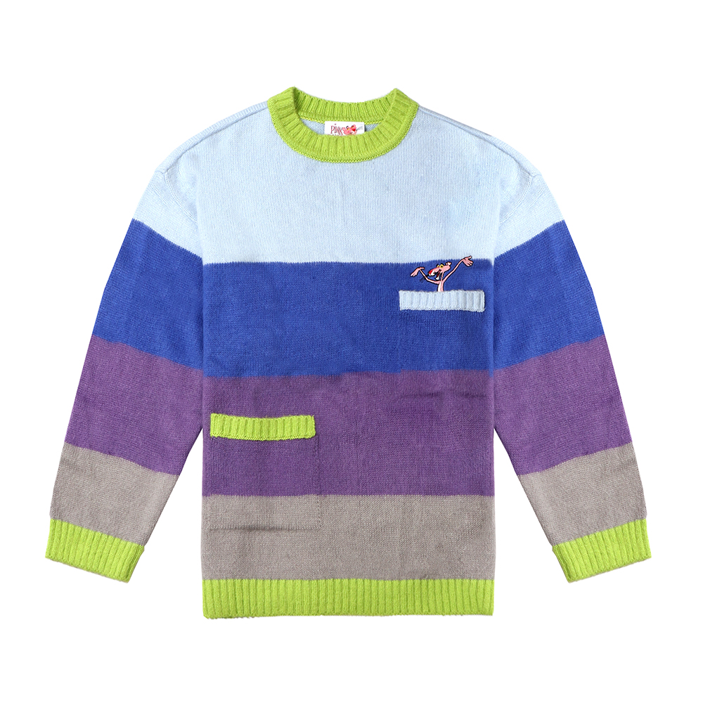 [FW18 Pink Panther] Color Stripe Knit(Lavender) 스테레오 바이널즈