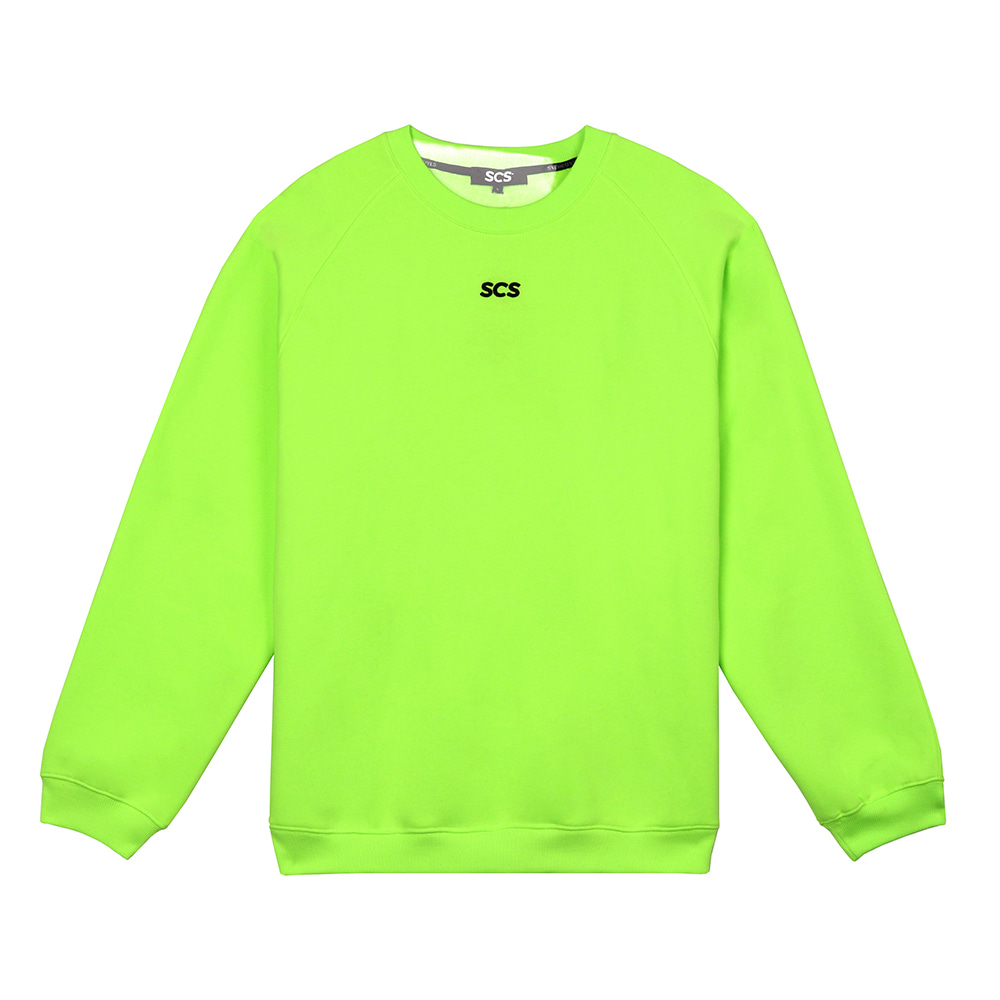 [FW18 SCS] Point Logo Sweatshirts(Green) 스테레오 바이널즈