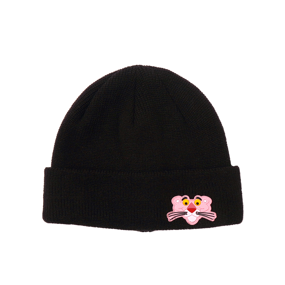 [FW18 Pink Panther] PP Face Beanie(Black) 스테레오 바이널즈
