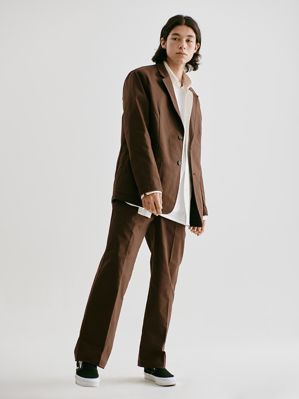 [FW20 Sounds Life] Oxford Club Pants(Brown) 스테레오 바이널즈[FW20 Sounds Life] Oxford Club Pants(Brown)